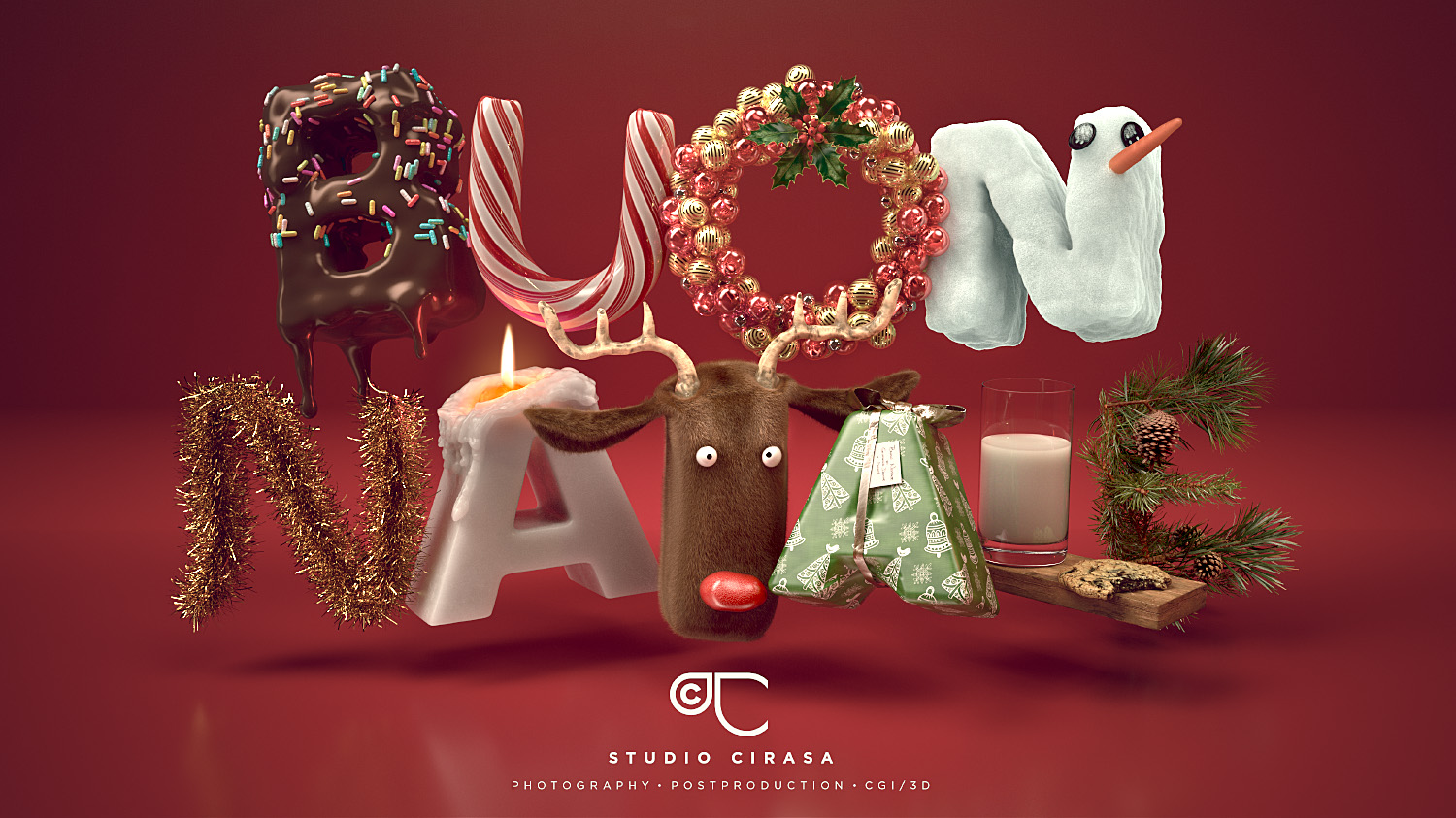 Buon Natale CGI 3D Illustration