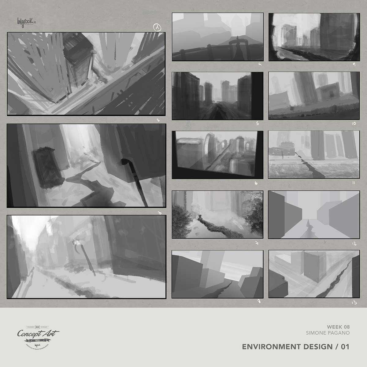 Environment Art Digital Painting Thumbnails